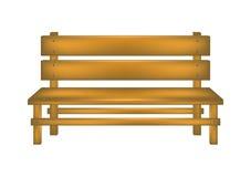 Wiejska ławka royalty ilustracja