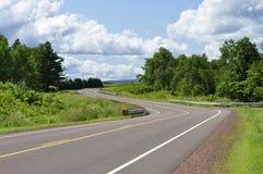 Wiejska autostrada w lecie Obrazy Stock