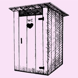 Wiejska drewniana outdoors toaleta Fotografia Stock