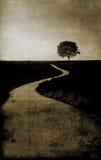 wiejska droga ilustracji