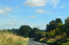 wiejska droga Zdjęcia Stock