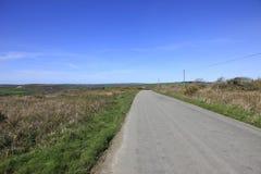 Wiejska Droga Bodmin Cumuje Cornwall Zdjęcia Royalty Free