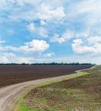 Wiejska droga horyzont Obrazy Stock