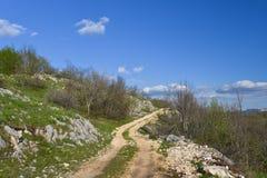 Wiejska droga, Montenegro zdjęcie stock