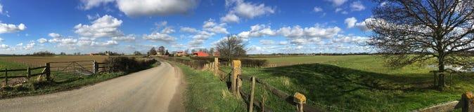 Wiejska droga North Yorkshire, Zjednoczone Królestwo - Zdjęcie Stock