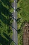 Wiejska droga od bezpośrednio above Zdjęcie Stock