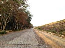 Wiejska droga przez łąki Zdjęcia Royalty Free