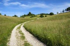 Wiejska droga w środkowym Slovenia zdjęcie stock