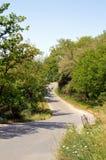 Wiejska droga w asfalcie Fotografia Stock
