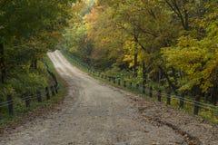Wiejska Droga W jesieni Obraz Royalty Free