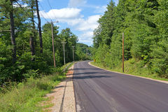 Wiejska droga w lecie Obraz Royalty Free