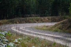 Wiejska droga w lesie Fotografia Royalty Free