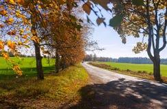 Wiejska droga w wczesnej jesieni Zdjęcia Royalty Free
