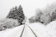 Wiejska droga w zimie Fotografia Stock