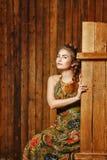Wiejska dziewczyna w stajni Obraz Royalty Free