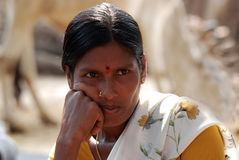 Wiejska kobieta India Zdjęcia Stock