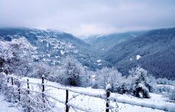 wiejska krajobrazowa zimy zdjęcie stock