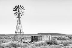 Wiejska monochromatyczna Karoo scena Obrazy Stock