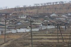 Wiejska scena w Północnym Korea DPRK Fotografia Stock