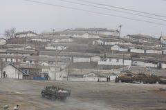 Wiejska scena w Północnym Korea DPRK Obrazy Royalty Free