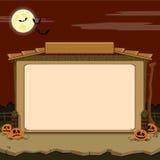 Wiejska stajnia. Próbka tekst. Halloweenowy temat ilustracja wektor