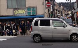Wiejska ulica w Japonia fotografia stock