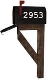Wiejska usługi pocztowe skrzynka pocztowa Odizolowywająca Fotografia Stock