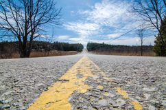 Wiejska wiejska droga Ontario Kanada Zdjęcia Royalty Free