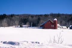 Wiejska zimy scena w Nowa Anglia Fotografia Stock