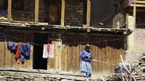 Wiejski życie w Kalpa wiosce zbiory wideo