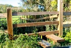 Wiejski angielski kraju przełaz w Gloucestershire i Cotswolds zdjęcie stock