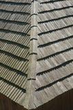 Wiejski domu dach robić drewniany deseczka szczegół fotografia royalty free