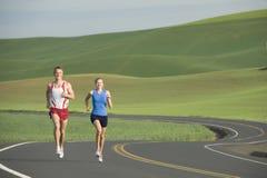 wiejski drogowy biegacz Zdjęcie Royalty Free