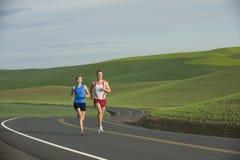 wiejski drogowy biegacz Zdjęcia Royalty Free