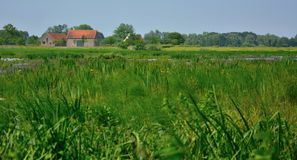 Wiejski Flanders, antyczny gospodarstwo rolne zdjęcia royalty free