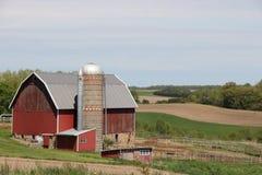Wiejski gospodarstwo rolne w Środkowy Zachód Obrazy Royalty Free