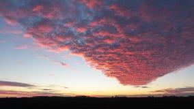 Wiejski Iowa Wiinter zmierzch zdjęcie stock
