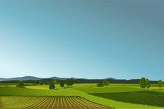 Wiejski krajobraz Zdjęcie Royalty Free