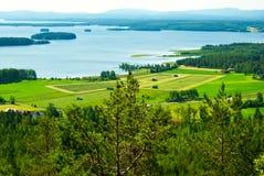Wiejski krajobraz obraz royalty free