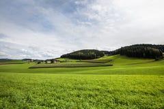 Wiejski krajobraz - Akcyjna fotografia Zdjęcia Royalty Free