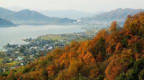 Wiejski krajobraz blisko Amanohashidate, w północnym Kyoto, Japonia Zdjęcie Stock