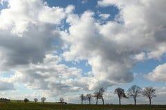 Wiejski krajobraz blisko Moritzburg, Niemcy Zdjęcia Royalty Free