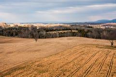 Wiejski krajobraz na Antietam polu bitwy Zdjęcia Royalty Free