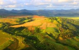 Wiejski krajobraz na Mauritius wyspie Obraz Stock