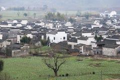 Wiejski krajobraz południowy Anhui fotografia stock