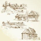 Wiejski krajobraz, rolnictwo Obraz Stock