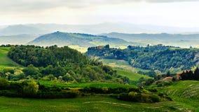 Wiejski krajobraz, Tuscany, Włochy, Europa zdjęcie stock