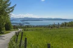 Wiejski krajobraz w Rogaland, Norwegia obraz royalty free