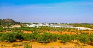 Wiejski krajobraz w Tunezja Obrazy Royalty Free