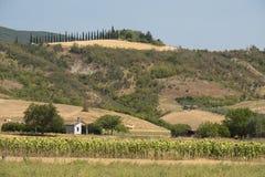 Wiejski krajobraz w val Teverina Umbria, Włochy Fotografia Royalty Free